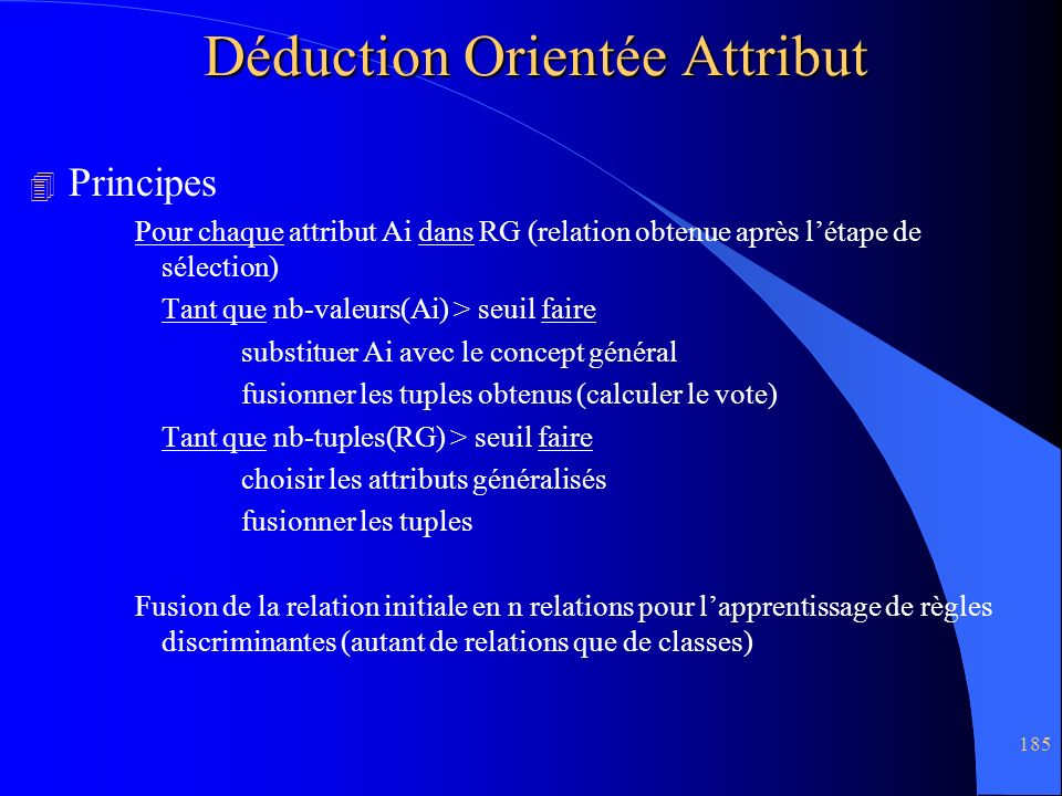 Déduction Orientée Attribut