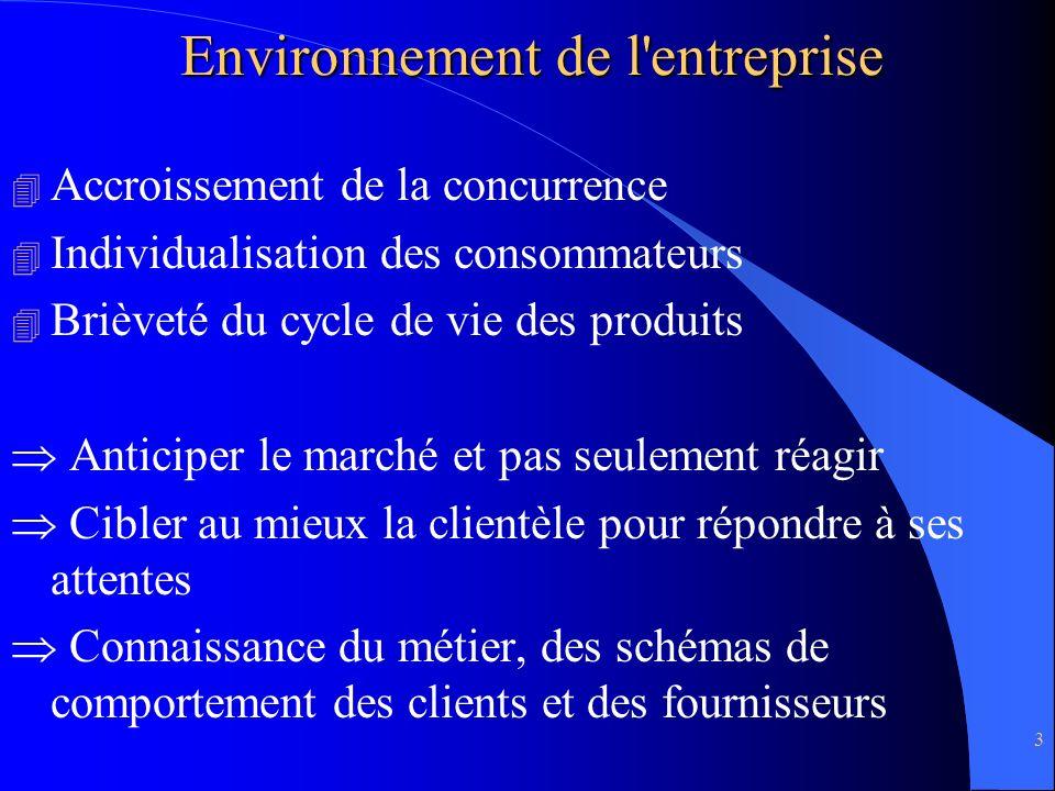 Environnement de l entreprise