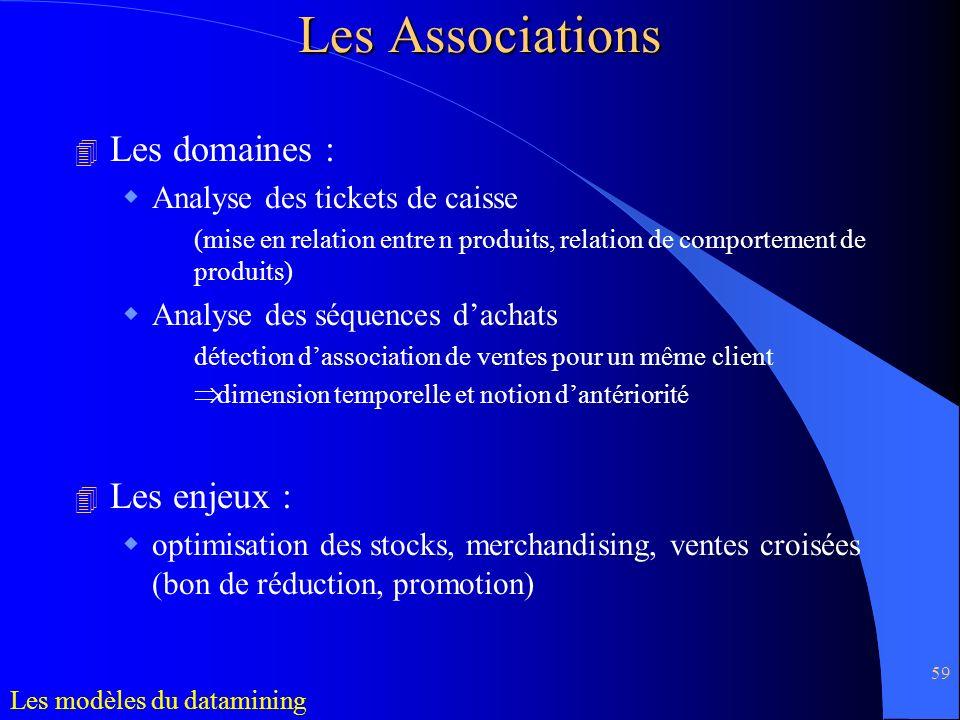Les Associations Les domaines : Les enjeux :