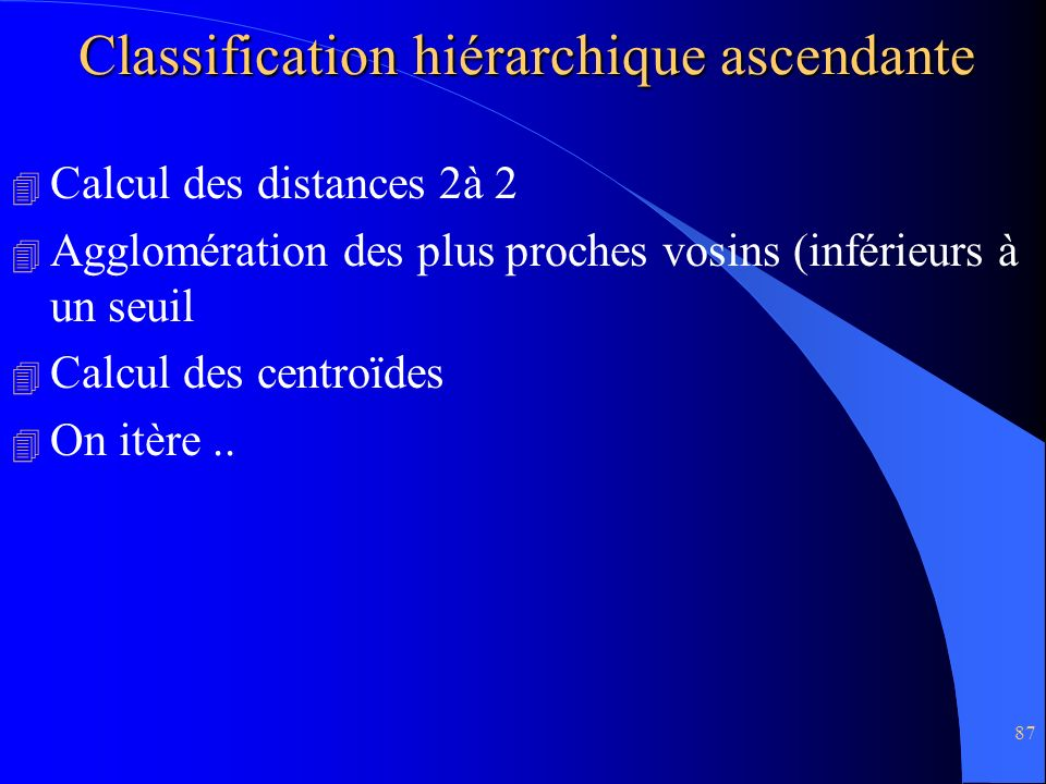 Classification hiérarchique ascendante