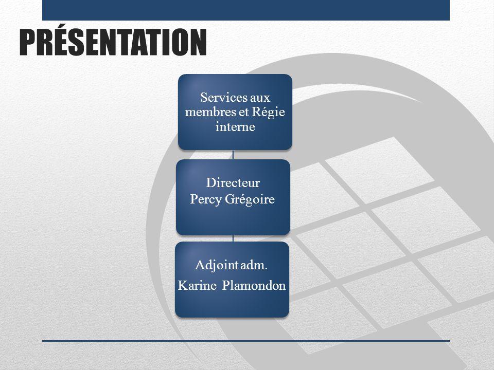 Services aux membres et Régie interne