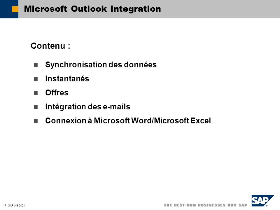 Microsoft Outlook Integration