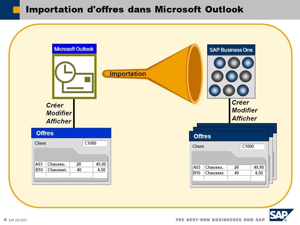 Importation d offres dans Microsoft Outlook