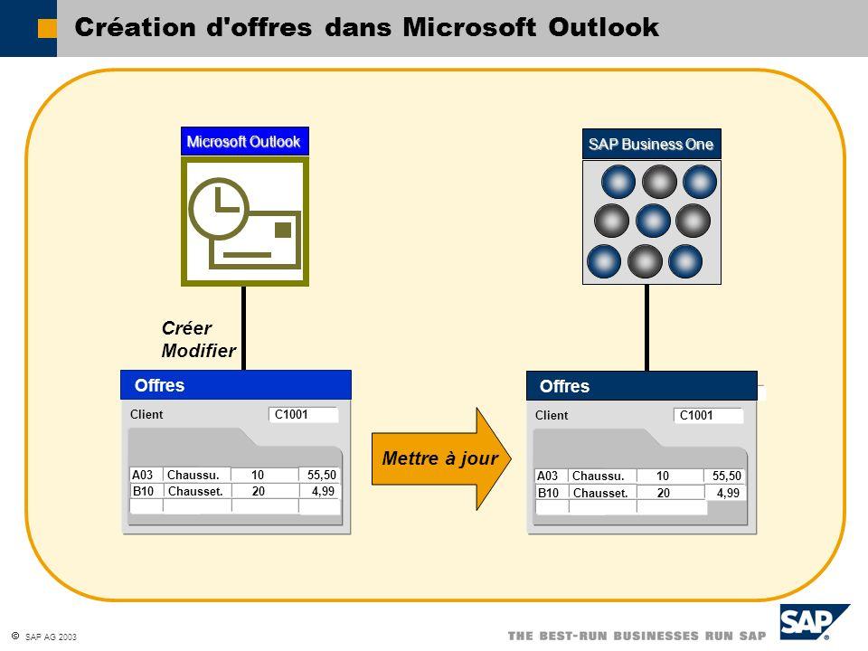 Création d offres dans Microsoft Outlook