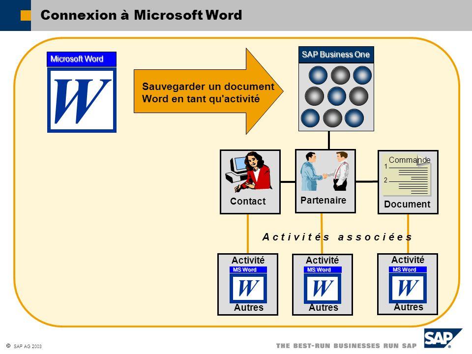Connexion à Microsoft Word