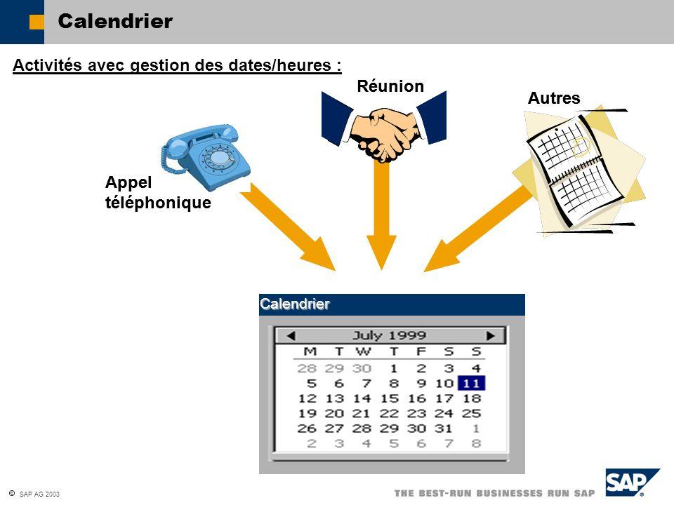 Calendrier Activités avec gestion des dates/heures : Réunion Réunion