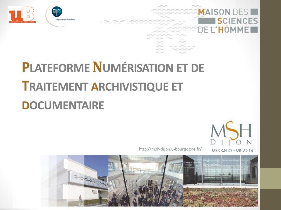 Plateforme Numérisation et de Traitement archivistique et documentaire