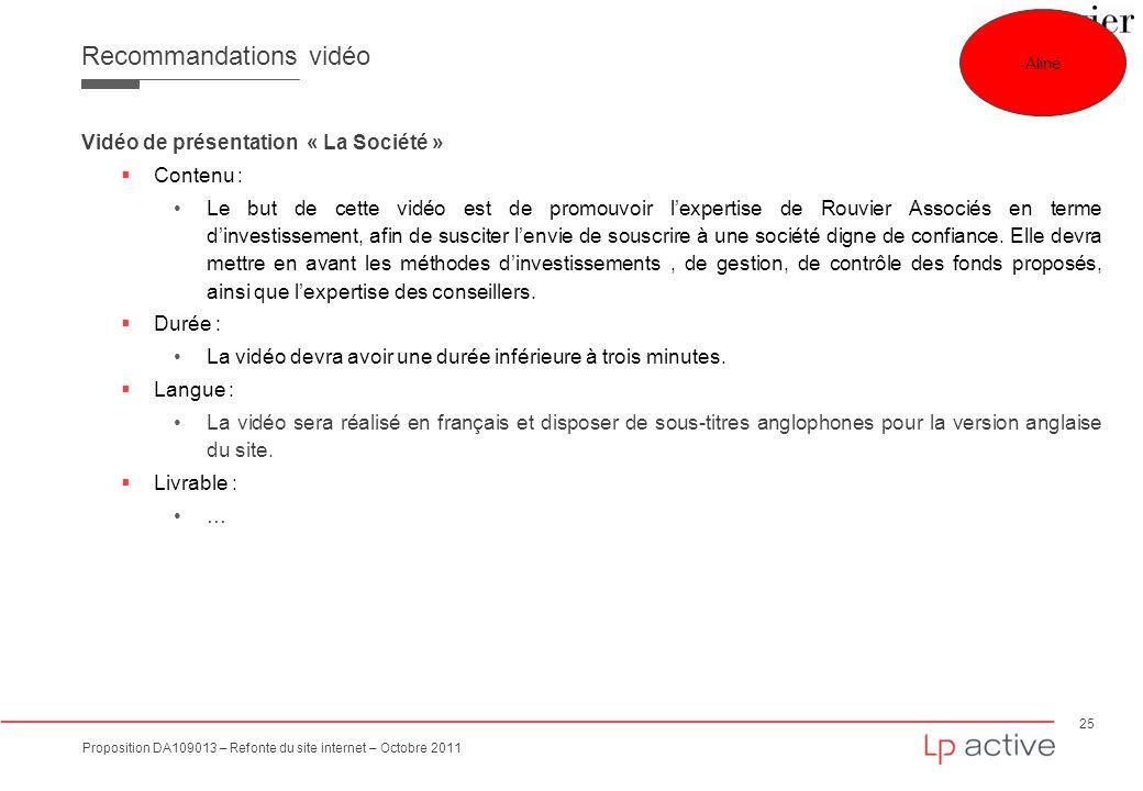 Recommandations vidéo