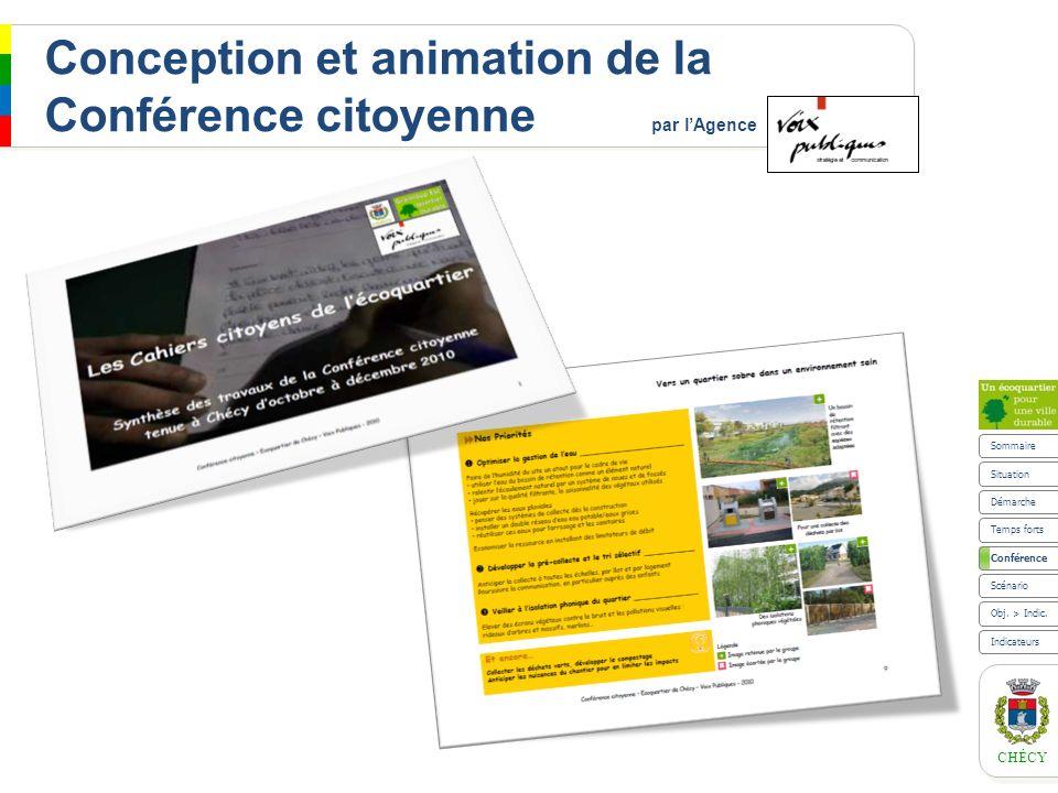 Conception et animation de la Conférence citoyenne par l'Agence