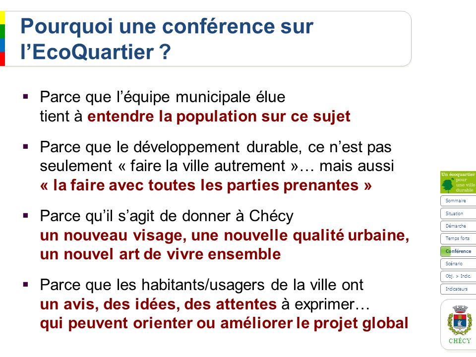 Pourquoi une conférence sur l'EcoQuartier