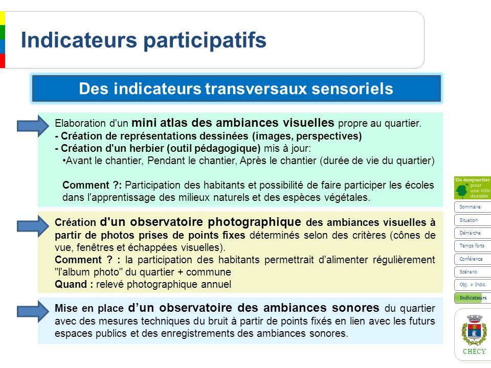 Indicateurs participatifs