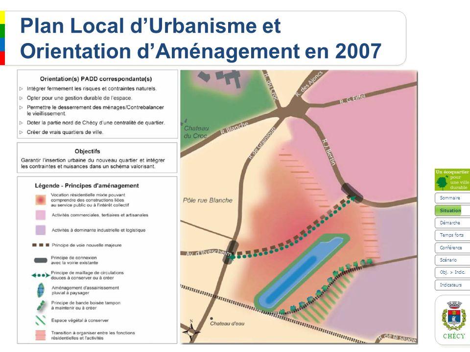 Plan Local d'Urbanisme et Orientation d'Aménagement en 2007
