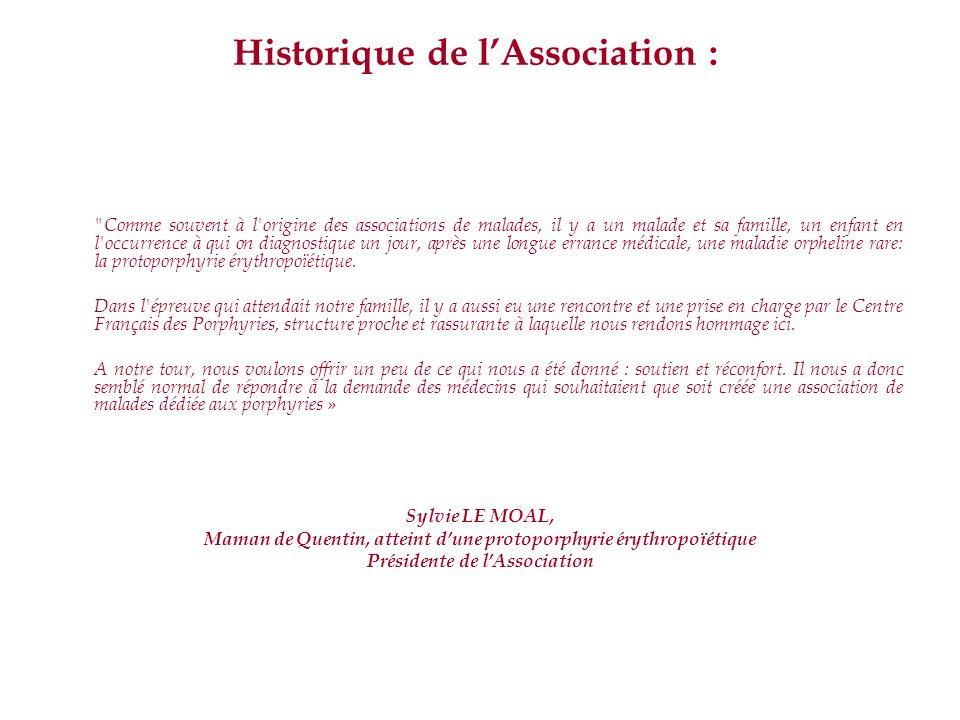 Historique de l'Association :