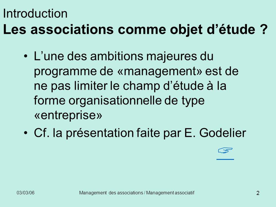 Introduction Les associations comme objet d'étude