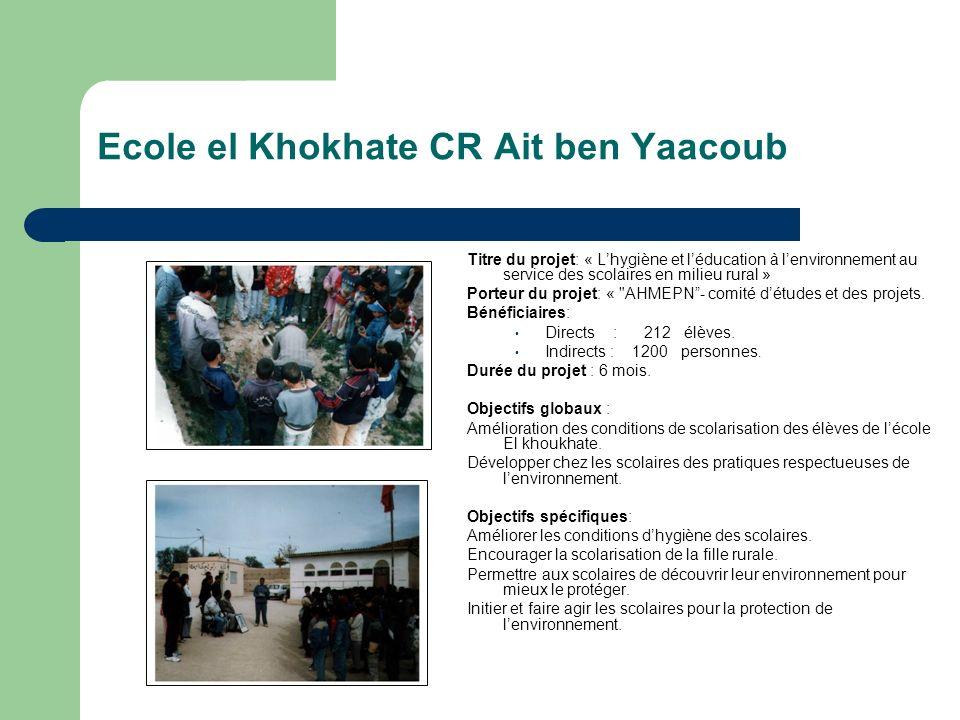Ecole el Khokhate CR Ait ben Yaacoub