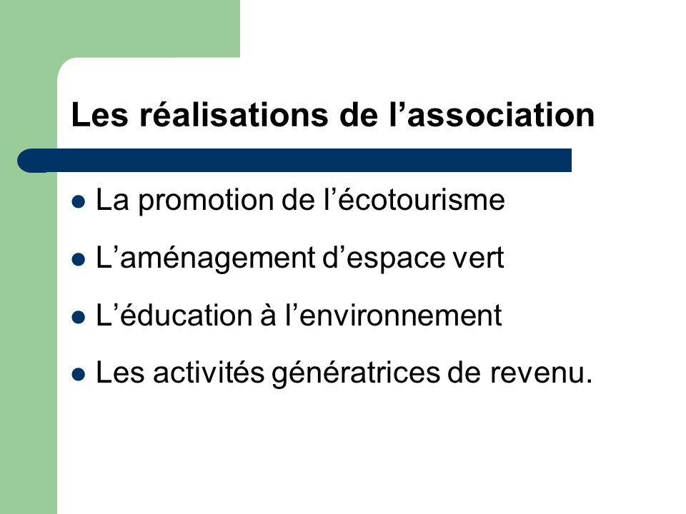 Les réalisations de l'association