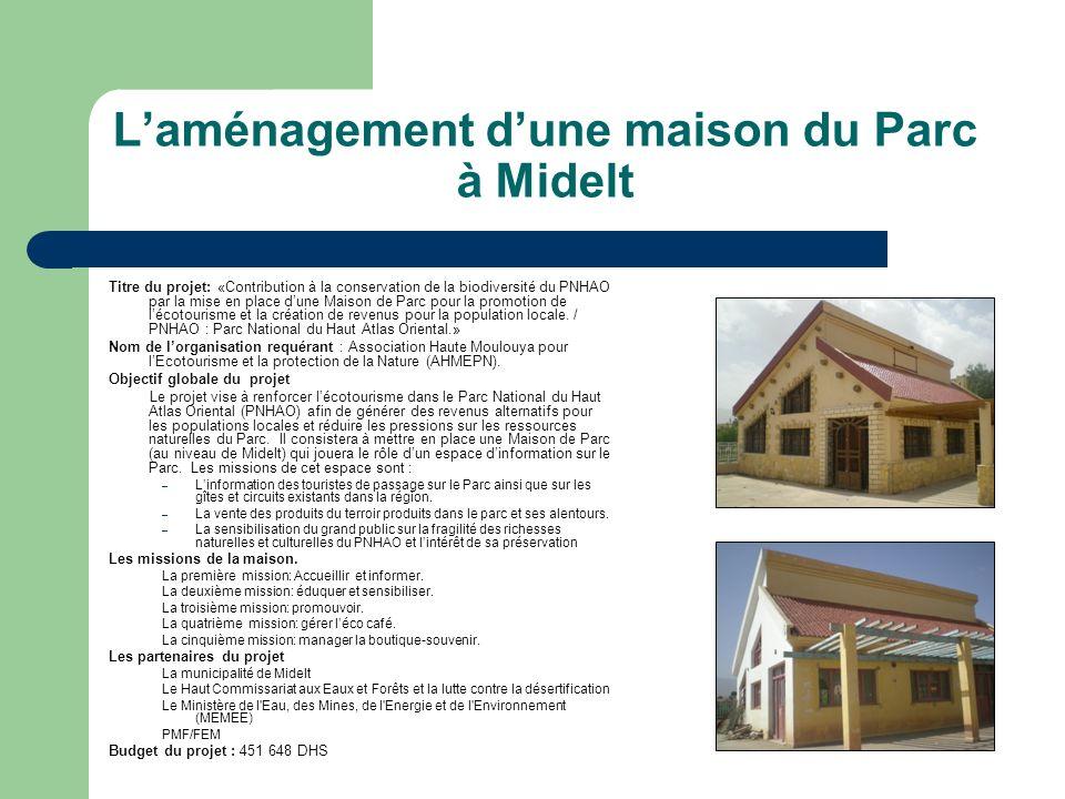 L'aménagement d'une maison du Parc à Midelt