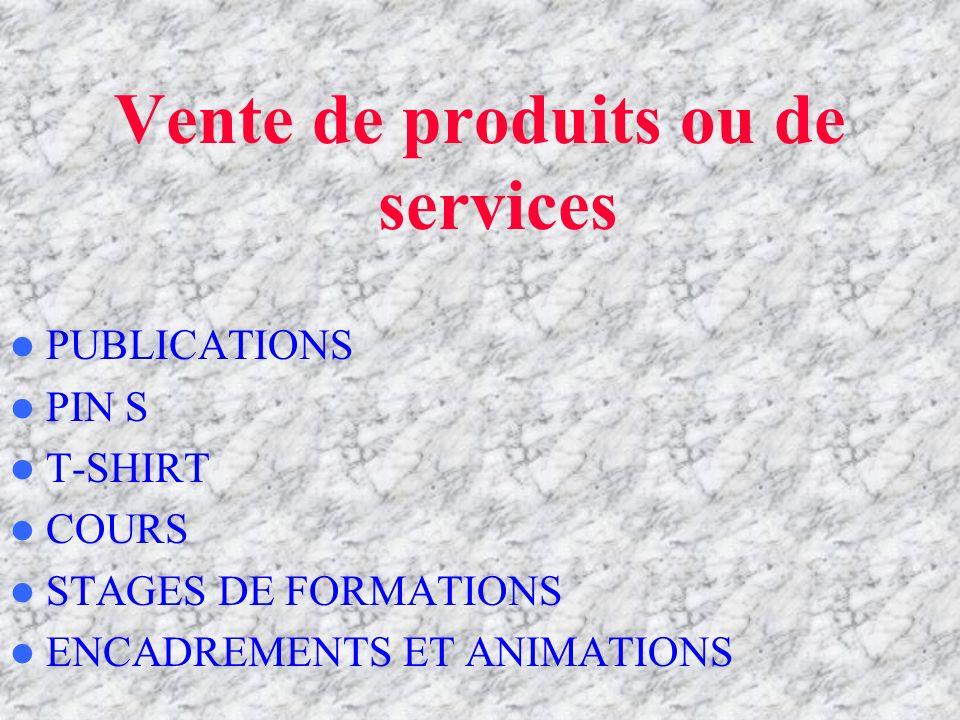 Vente de produits ou de services