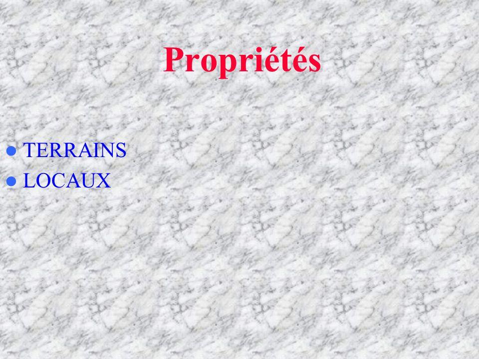 Propriétés TERRAINS LOCAUX