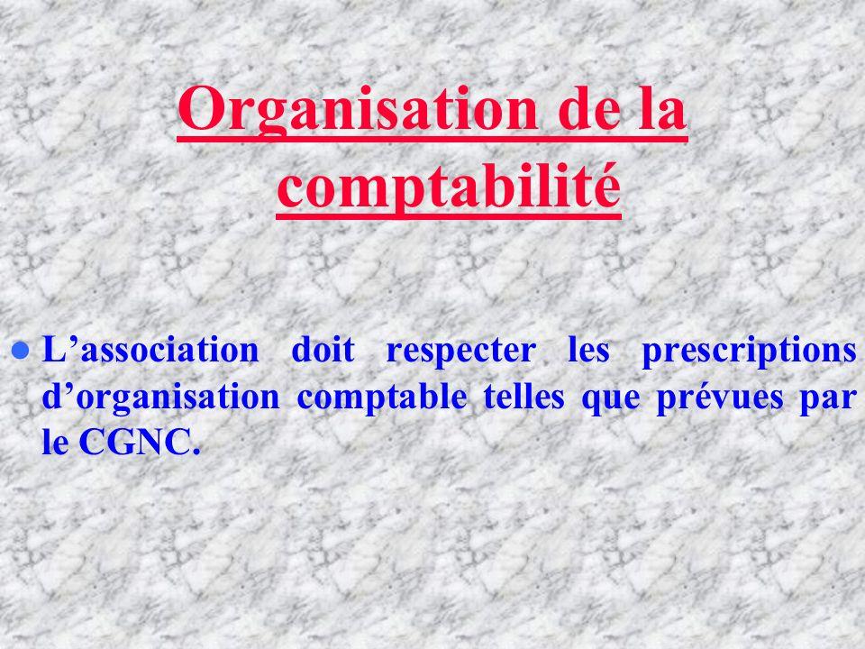 Organisation de la comptabilité