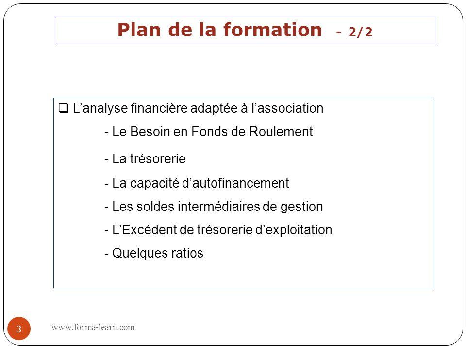 Plan de la formation - 2/2 - La trésorerie
