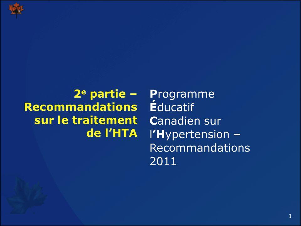 2e partie – Recommandations sur le traitement de l'HTA
