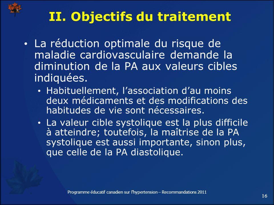 II. Objectifs du traitement