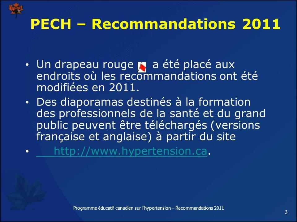 PECH – Recommandations 2011
