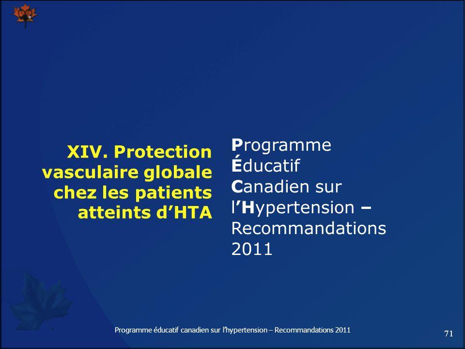 XIV. Protection vasculaire globale chez les patients atteints d'HTA