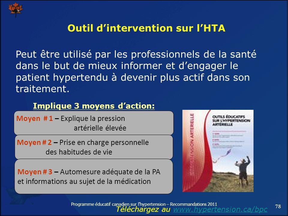 Outil d'intervention sur l'HTA