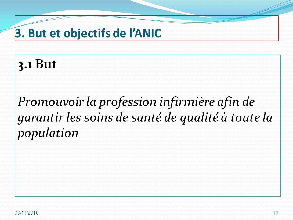 3. But et objectifs de l'ANIC