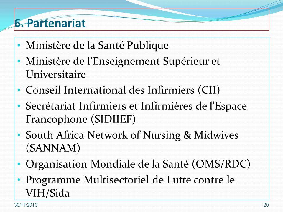 6. Partenariat Ministère de la Santé Publique