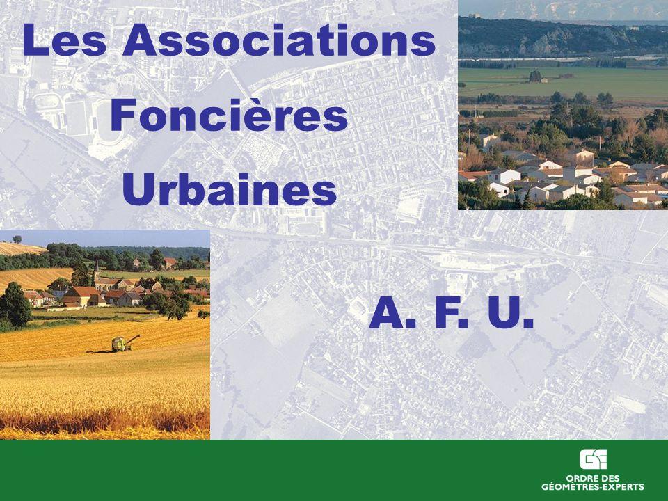 Les Associations Foncières Urbaines