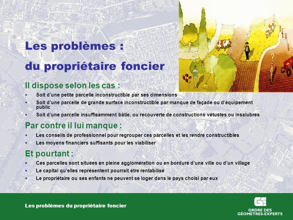Les problèmes : du propriétaire foncier