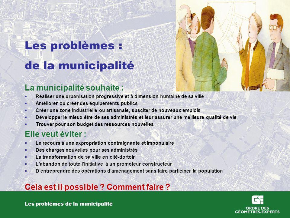 Les problèmes : de la municipalité