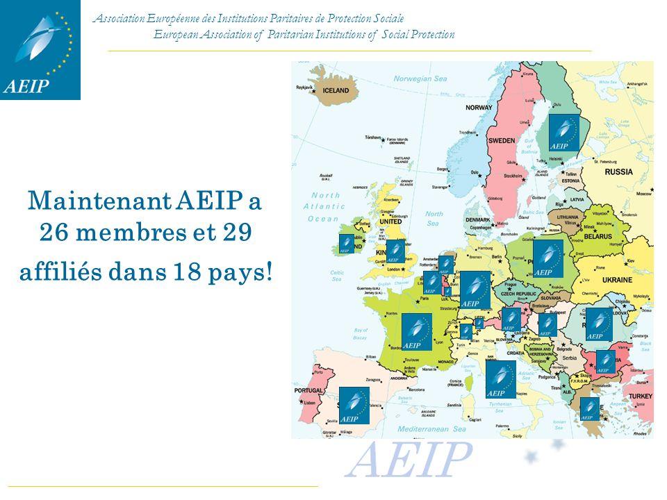 Maintenant AEIP a 26 membres et 29 affiliés dans 18 pays!