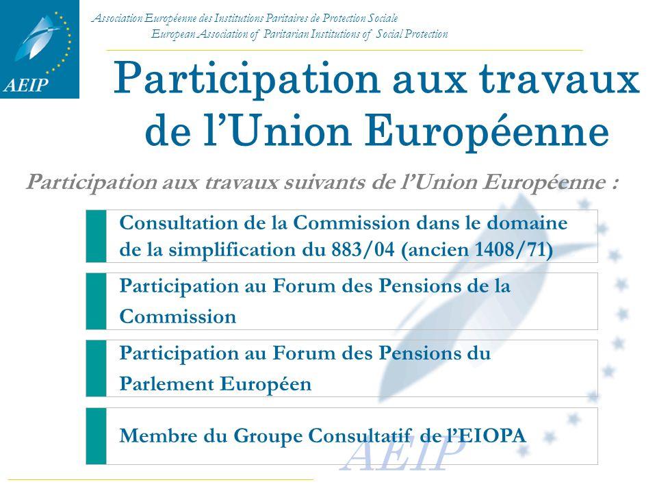 Participation aux travaux de l'Union Européenne