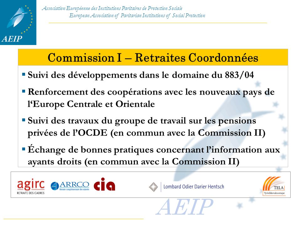 Commission I – Retraites Coordonnées