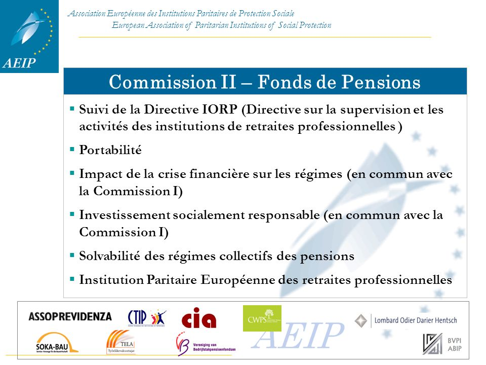 Commission II – Fonds de Pensions