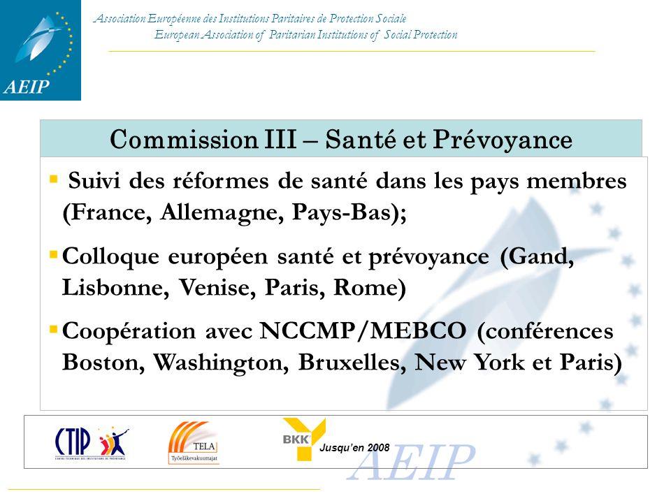 Commission III – Santé et Prévoyance