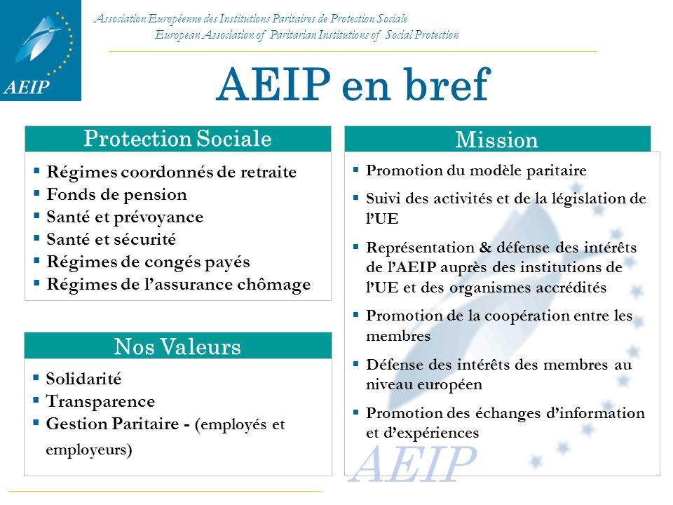 AEIP en bref Protection Sociale Mission Nos Valeurs
