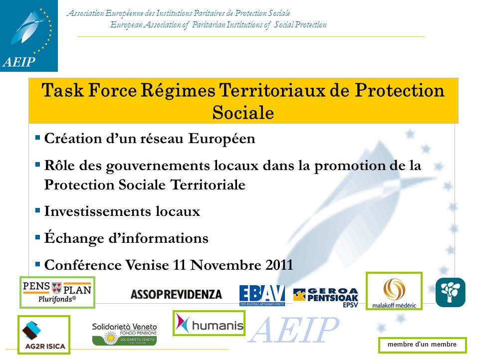 Task Force Régimes Territoriaux de Protection Sociale