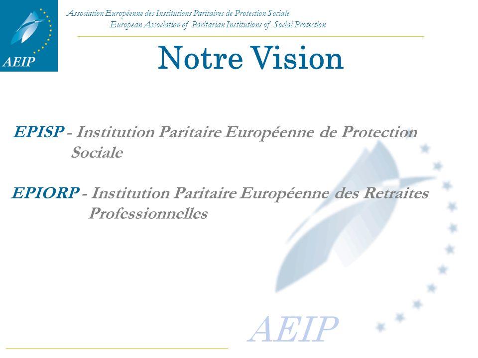 Notre Vision EPISP - Institution Paritaire Européenne de Protection Sociale.