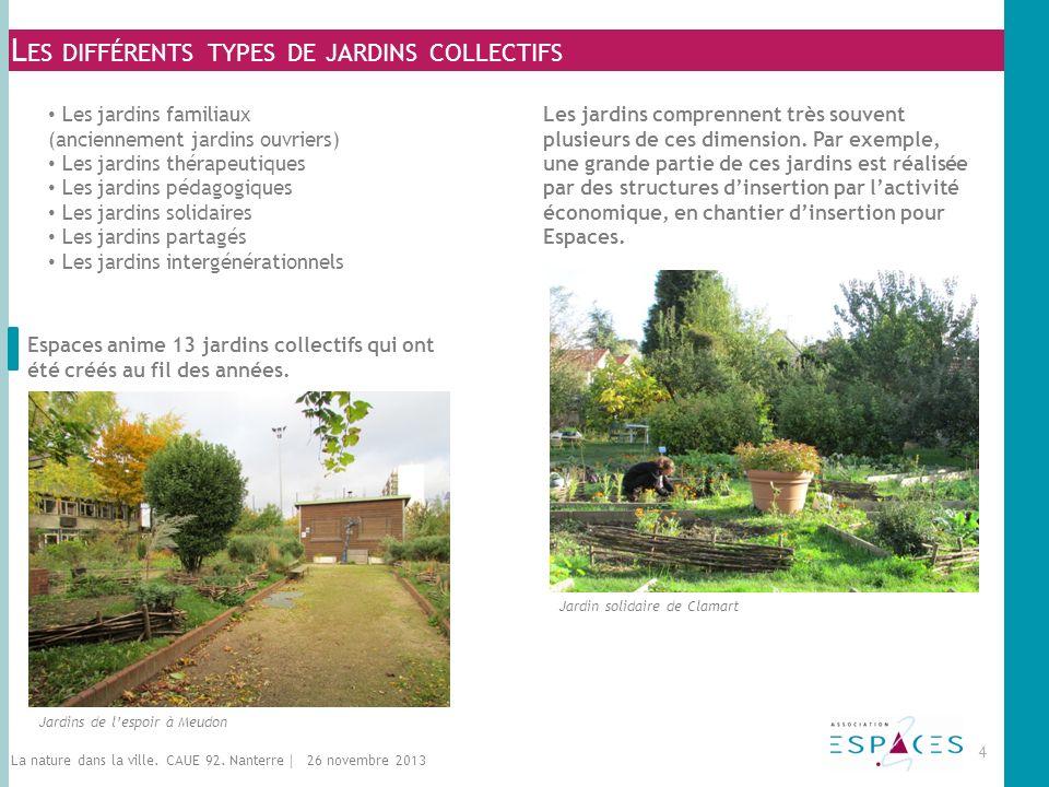 Les différents types de jardins collectifs