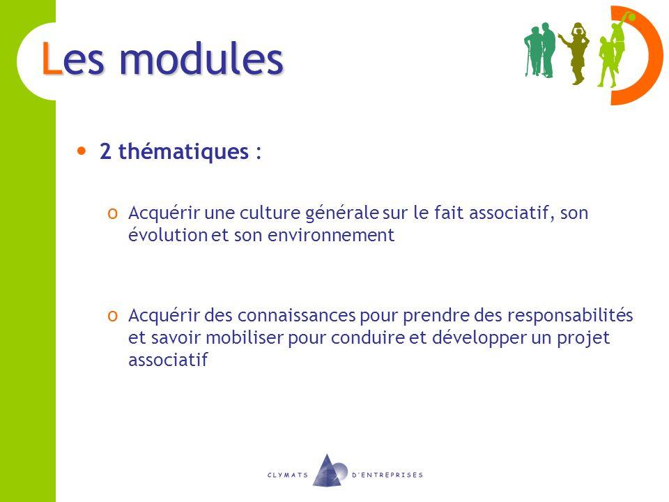 Les modules 2 thématiques :