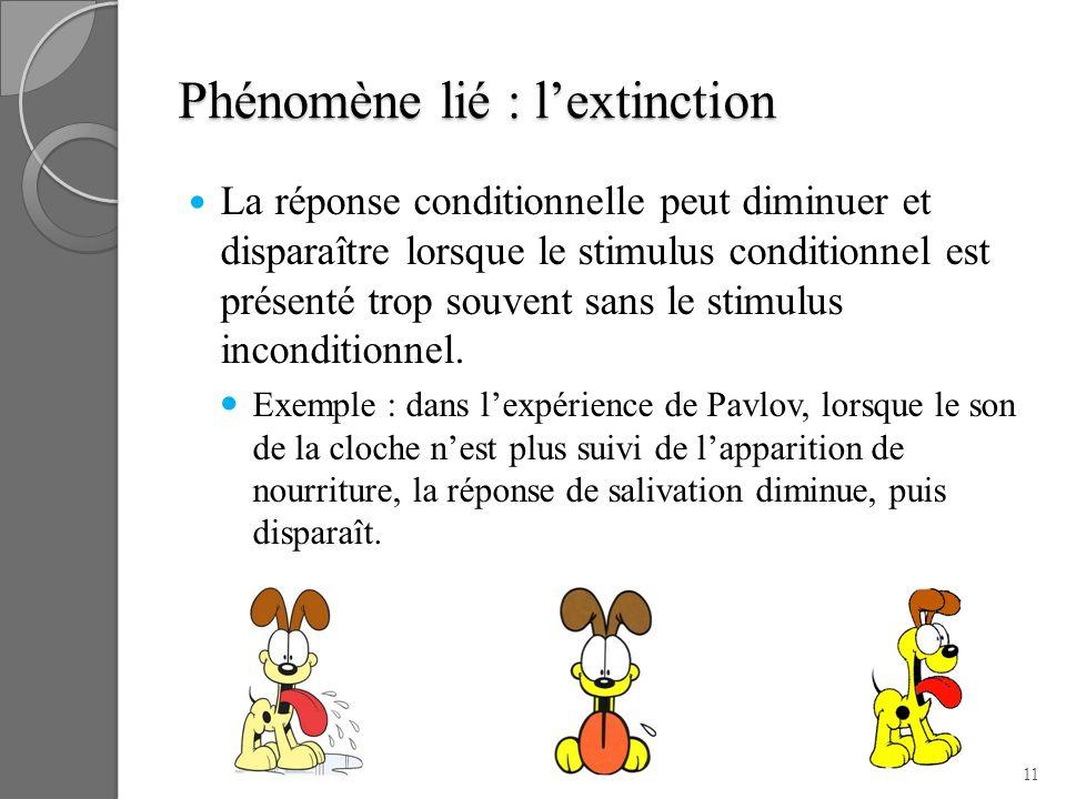 Phénomène lié : l'extinction