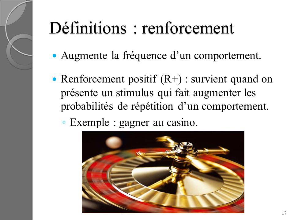 Définitions : renforcement