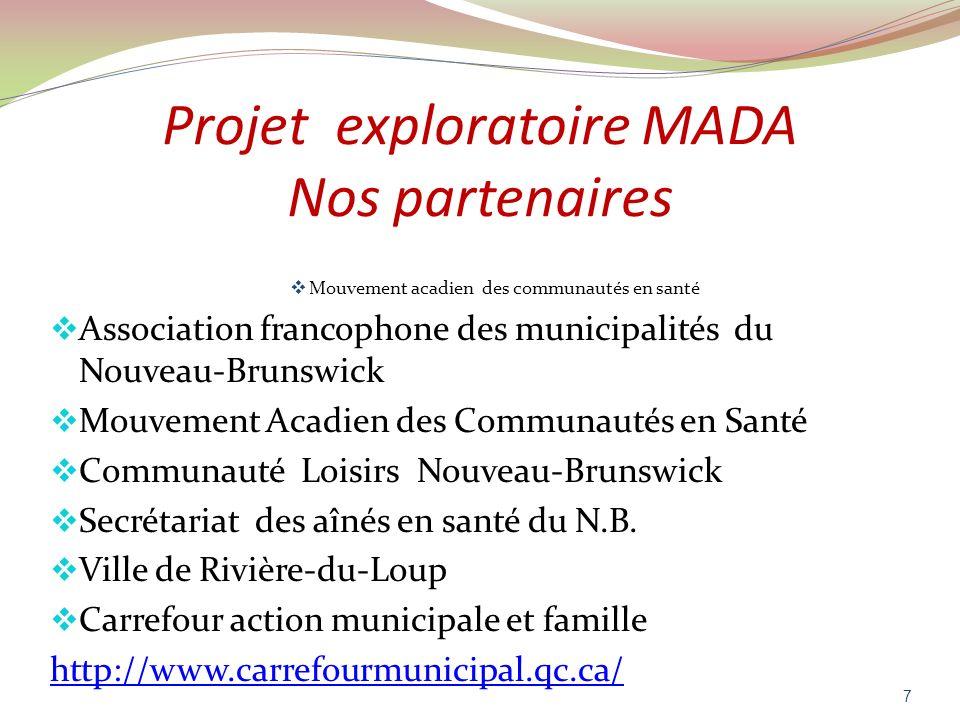 Projet exploratoire MADA Nos partenaires