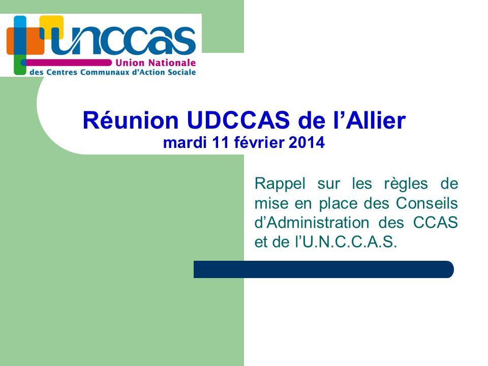 Réunion UDCCAS de l'Allier mardi 11 février 2014