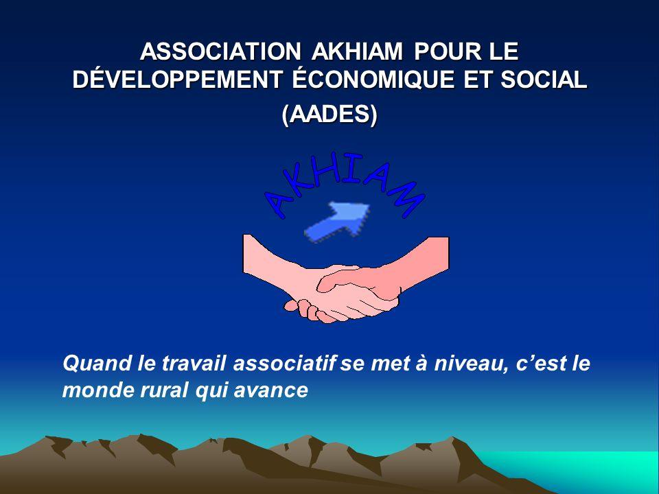ASSOCIATION AKHIAM POUR LE DÉVELOPPEMENT ÉCONOMIQUE ET SOCIAL (AADES)